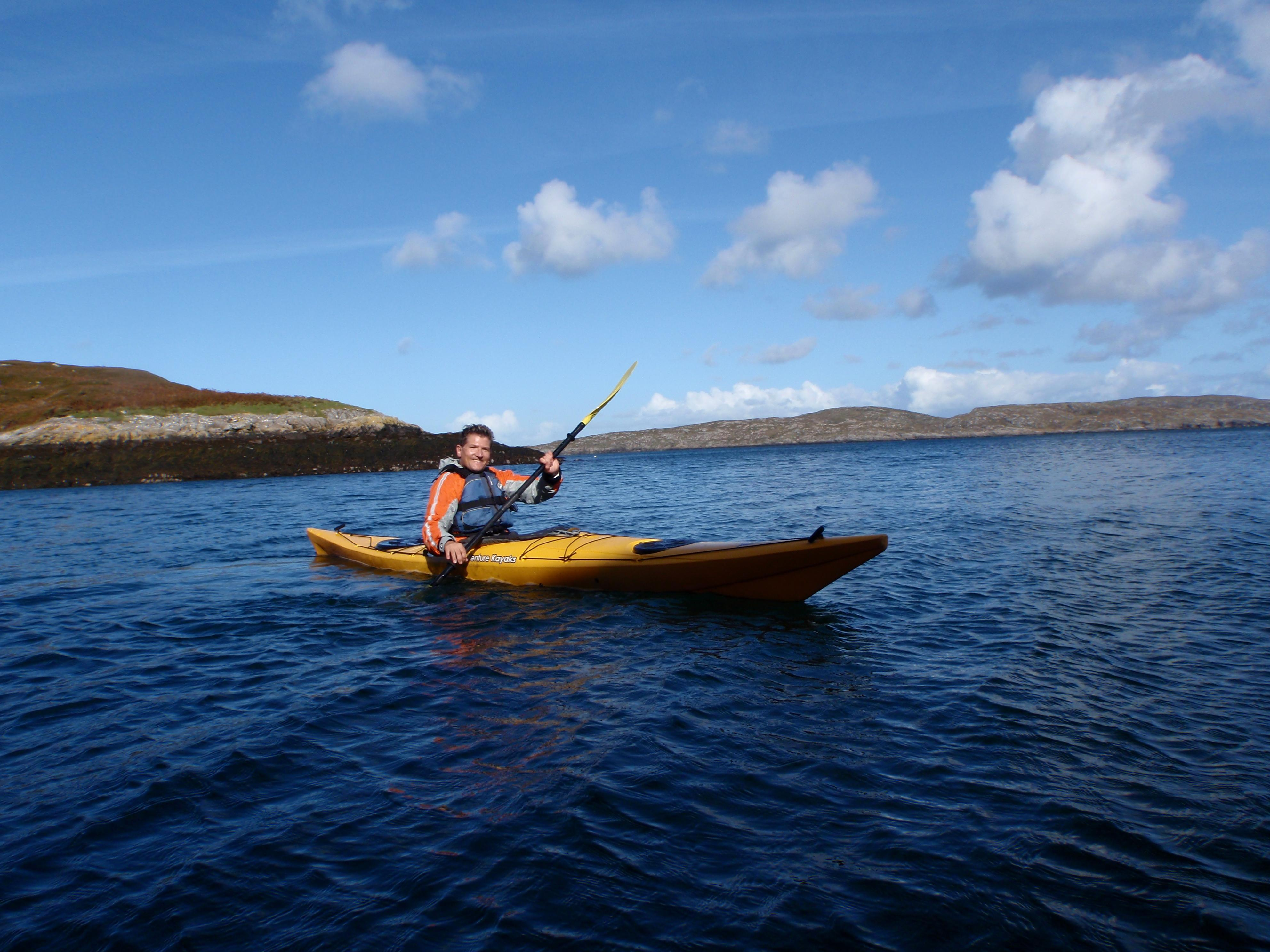 Robin sea kayaking with Clearwater Paddling (2)