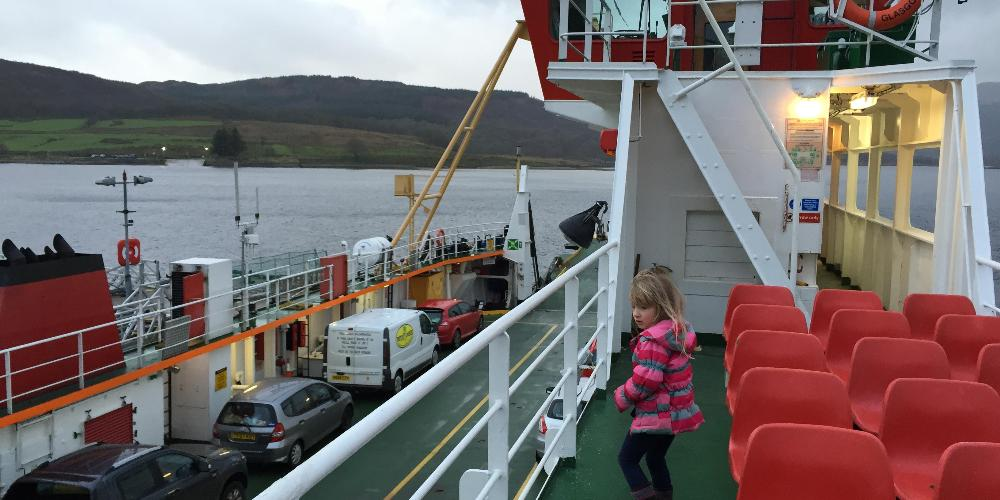 Robin's daughter Emma on Bute ferry
