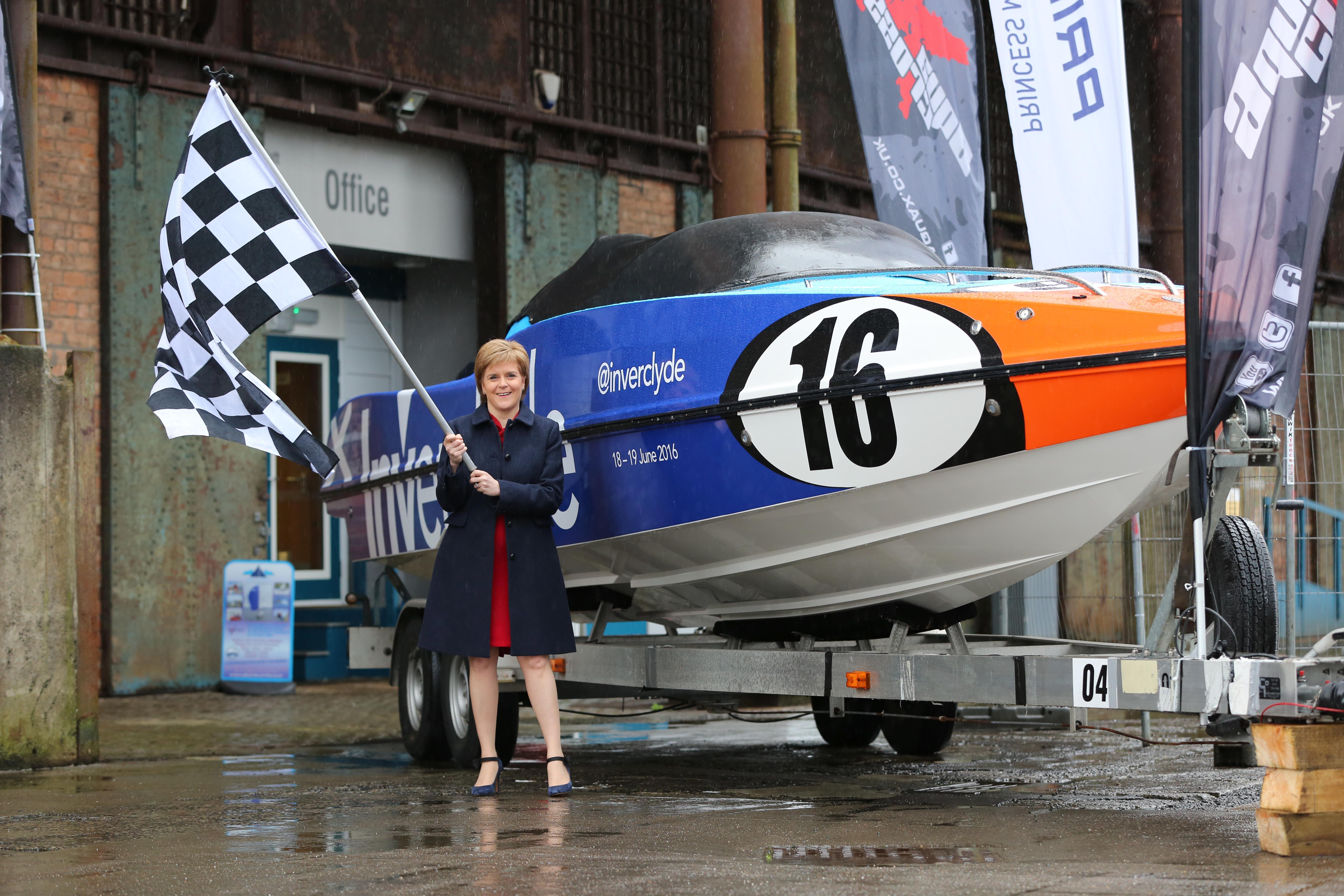 Inverclyde's P1 boat and first minister