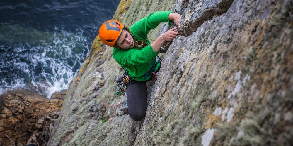 Climbing on the isle of Skye