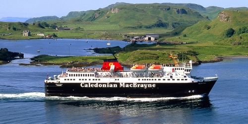 MV Isle of Mull passing Kerrera,Oban Bay