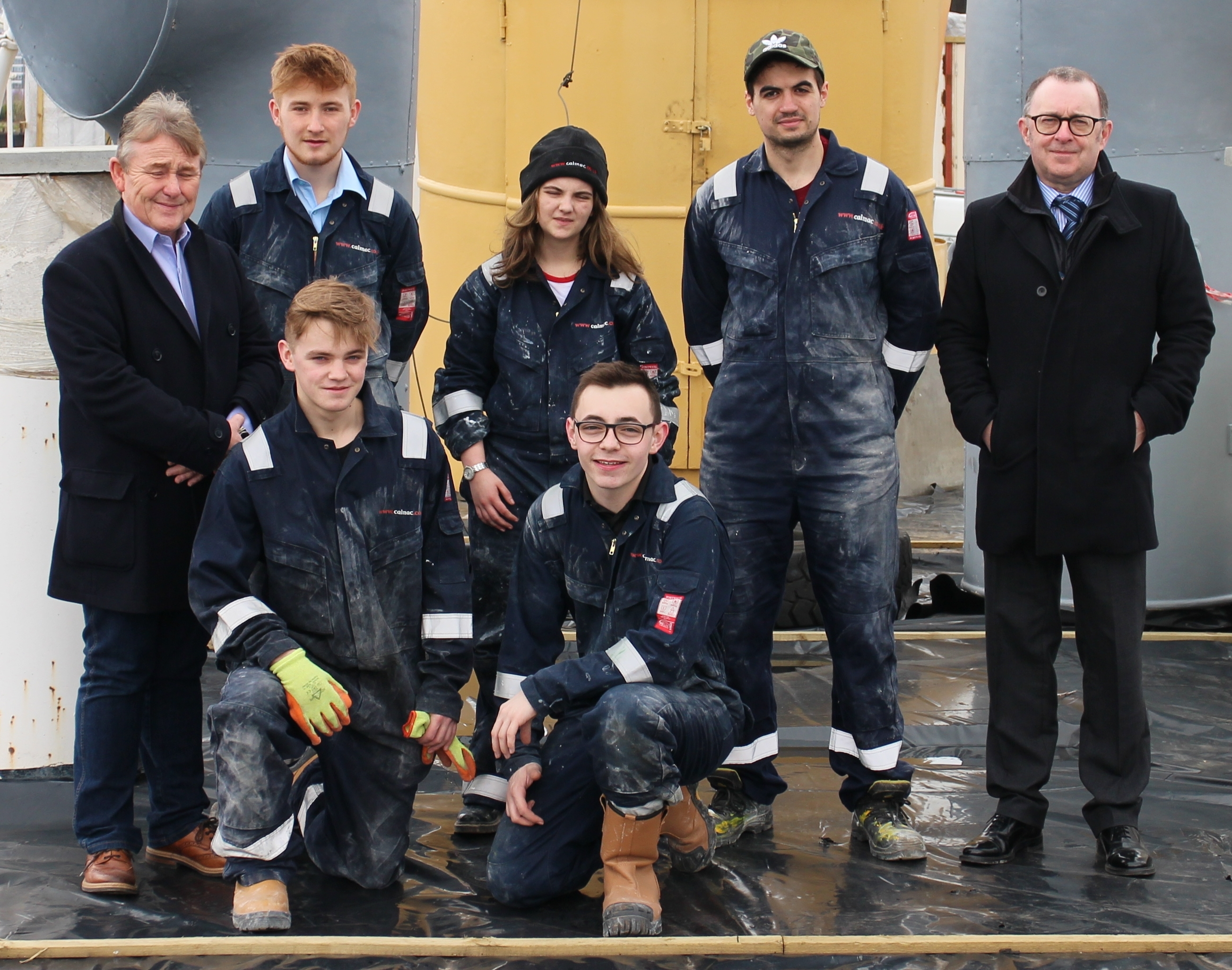 CalMac Modern Apprentices move Queen Mary restoration forward