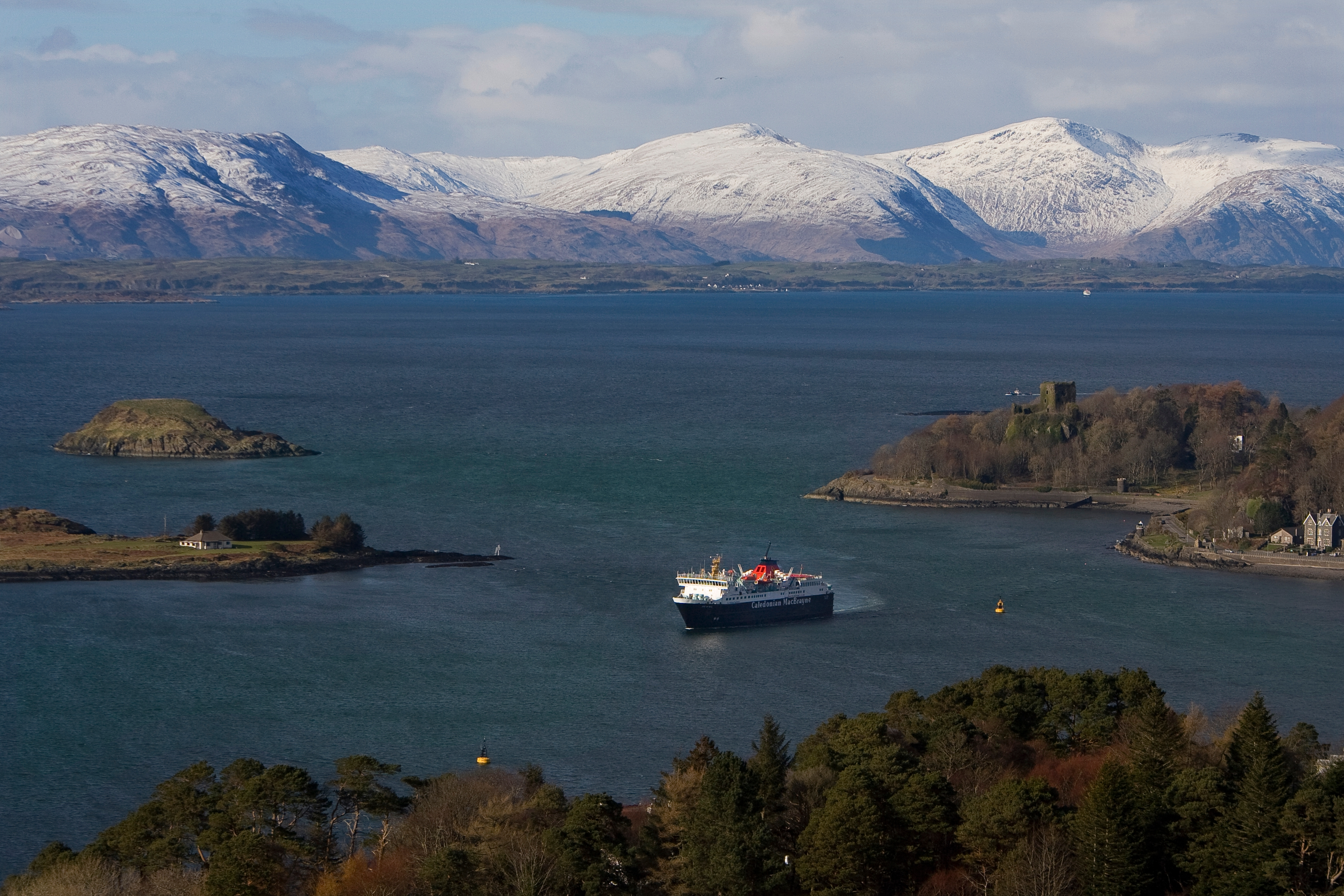 MV Isle of Mull with Dunollie and Morvern Hills