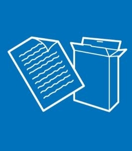 Recycling icon - paper and card