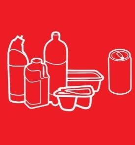 Recycling icon - plastics and cans