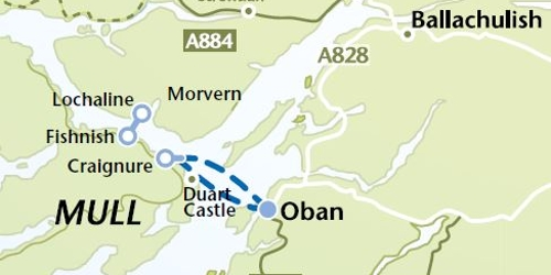 Sound of Mull Map