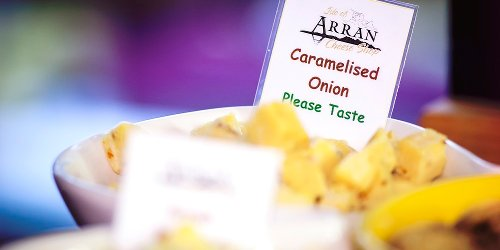 caramelised onion cheese by Isle of Arran Cheese Company