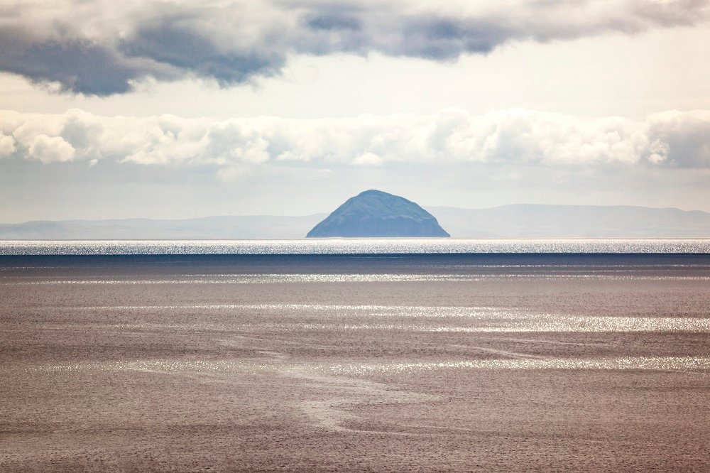 Kintyre Peninsula with Ailsa Craig in the distance